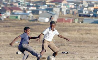 Naija kids playing football