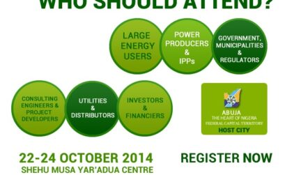 The Nigeria Alternative Energy Expo 2014 is Nigeria's leading alternative energy Expo. NAEE 2014 takes place at the Shehu Musa Yar ' Adua Centre Abuja, from October 22 – 24 2014.