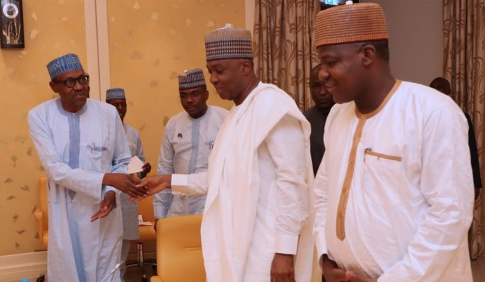 Saraki, Dogara meet President Buhari over Plateau killings